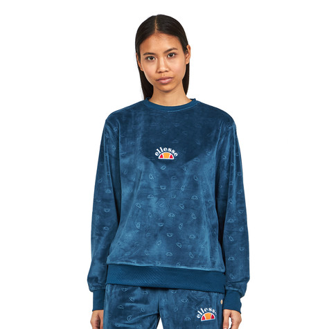 ellesse - Basilo Velour Embossed Sweat