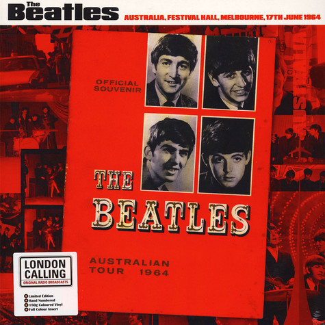 Beatles - Live in Australia, Festival Hall, Melbourne, 17th June 1964 Marble Red Colored Vinyl Edition