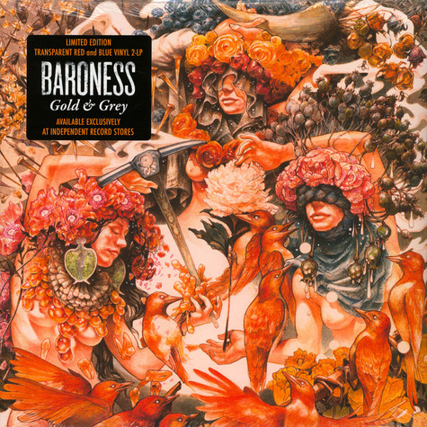 Baroness - Gold & Grey Red & Blue Vinyl Edition