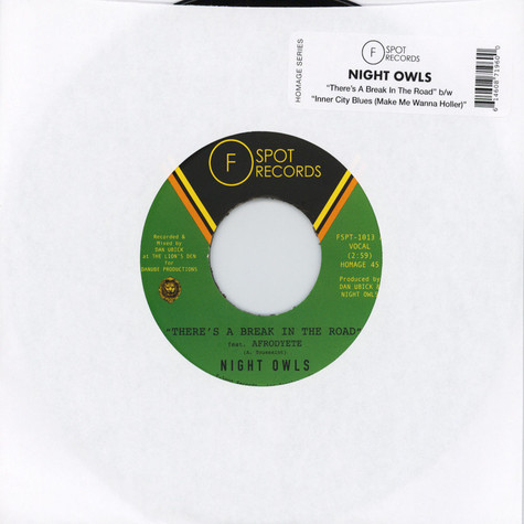 Night Owls - There's A Break In The Road / Inner City Blues (Make Me Wanna Holler)