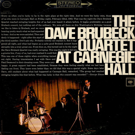 Dave Brubeck Quartet, The - At Carnegie Hall