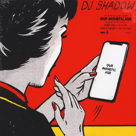 DJ Shadow - Our Pathetic Age Red, Yellow or Blue Cover Variant