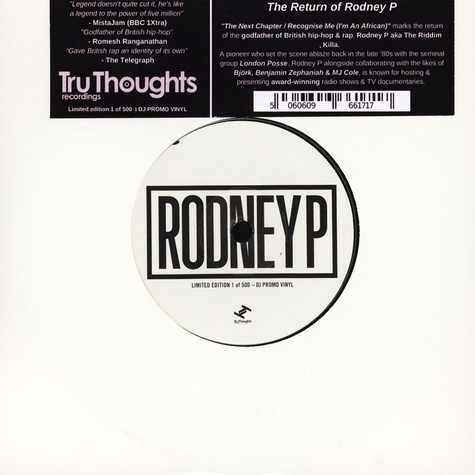 Rodney P - The Next Chapter / Recognise Me