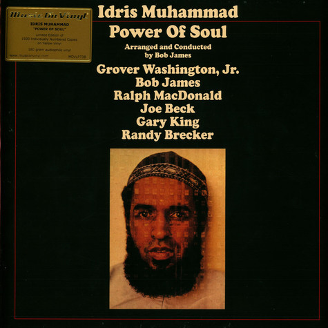 Idris Muhammad - Power Of Soul Limited Numbered Yellow Vinyl Edition