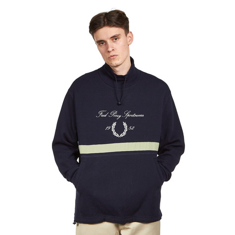 Fred Perry - Embroidered Funnel Neck Sweatshirt