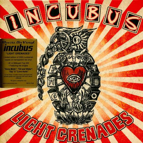 Incubus - Light Grenades Limited Numbered Red Vinyl Edition