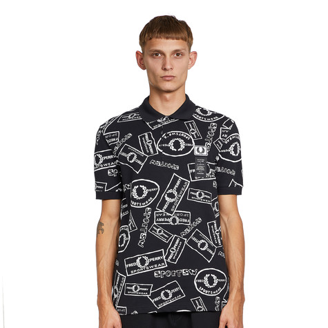 Fred Perry x Art Comes First - Printed Pique Polo Shirt