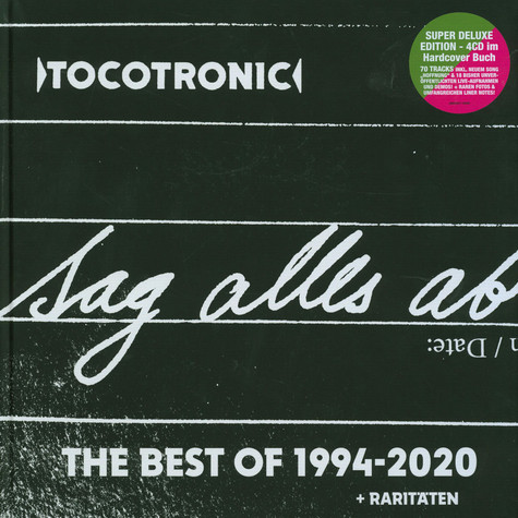 Tocotronic - Sag Alles Ab - Best Of Tocotronic 1994-2020 Limited 4CD-Earbook Edition