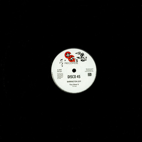 Barrington Levy / Gg's All Stars - You Have It / You Have A Dub