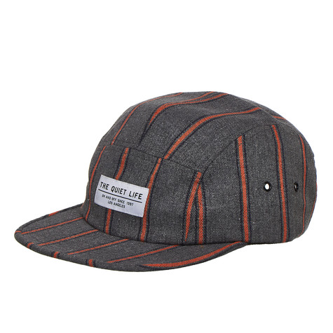 The Quiet Life - Striped Flannel 5 Panel Camper Hat