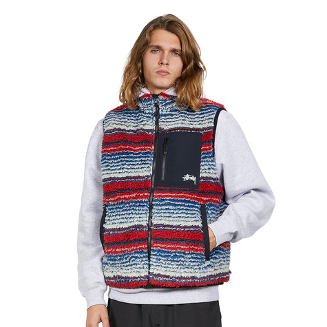 Stüssy - Striped Sherpa Vest