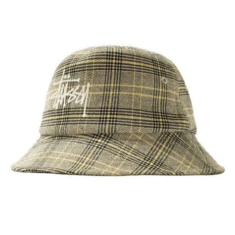 Stüssy - Big Logo Plaid Bucket Hat