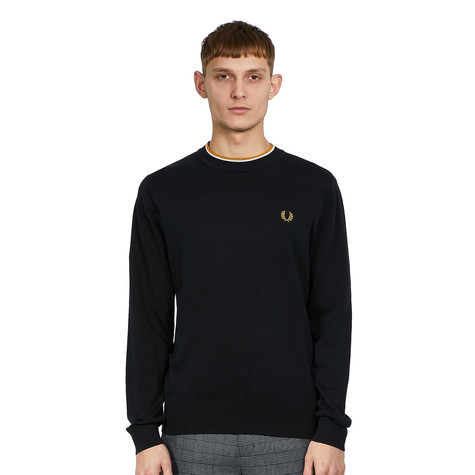 Fred Perry - Striped Roll Neck Jumper