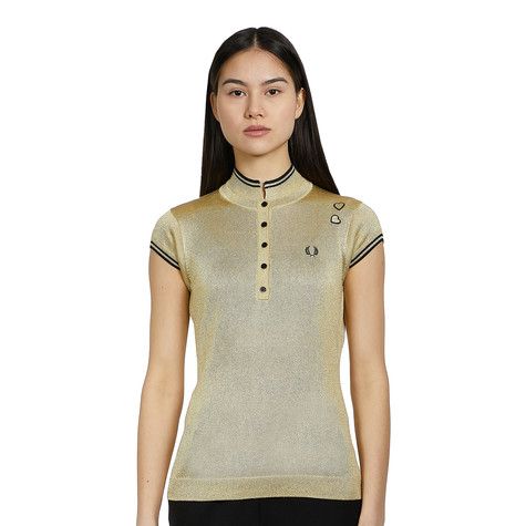 Fred Perry x Amy Winehouse Foundation - Metallic Knitted Shirt