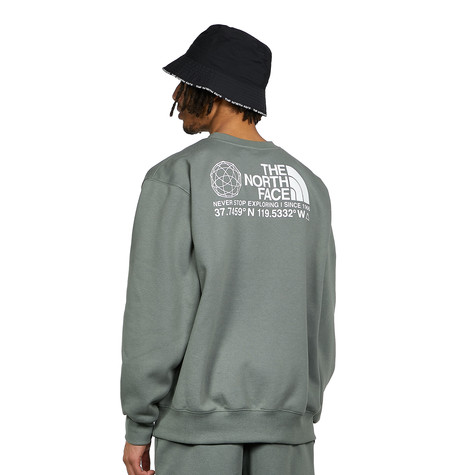 The North Face - Logo + Coordinates Crew Sweater