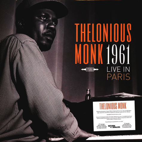 Thelonious Monk - 1961 Live In Paris Clear Vinyl Edition