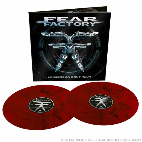 Fear Factory - Aggression Continuum Transparent Red/Black Marbled Vinyl Edition