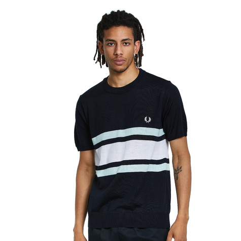 Fred Perry - Knitted Contrast Panel Crew