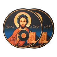 Glowtronics - God Is A DJ Non Glow Slipmat