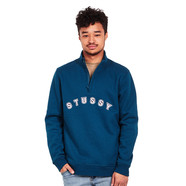 Stüssy - Quarter Zip Mock Neck Sweater