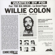 Willie Colon - Wanted By The FBI / The Big Break - La Gran Fuga