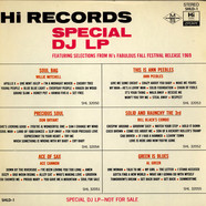 V.A. - Hi Records Special DJ LP Featuring Selections From Hi's Fabulous Fall Festival Release 1969