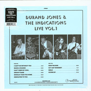 Durand Jones & The Indications - Durand Jones & The Indications Live Volume 1 Blue Vinyl Edition