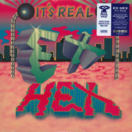 Ex Hex - It's Real Blue Magenta Swirl Vinyl Ediiton
