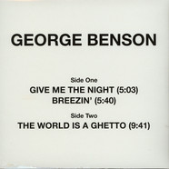 George Benson - Give Me The Night / Breezin' / The World Is A Ghetto