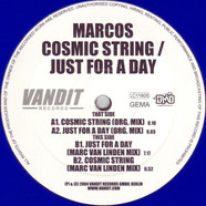 Marcos - Cosmic String / Just For A Day