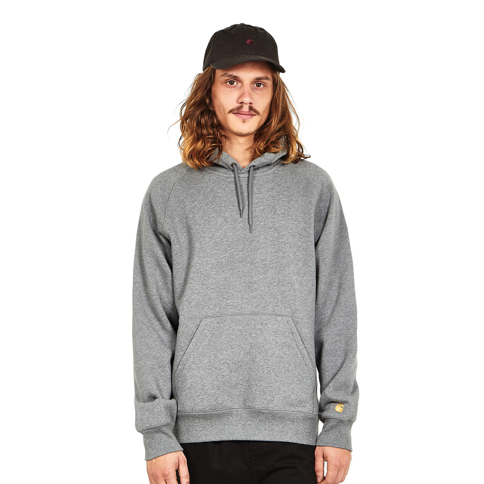 Grey Chase Wip Kapuzenpullover Sweat Carhartt Heather Gold Dark Hooded qnUfnxX