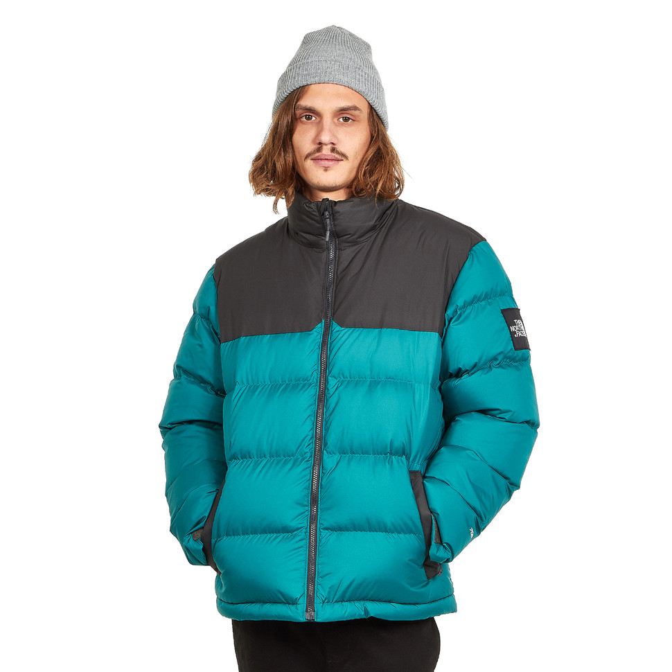the north face 1992 nuptse jacke in everglade-grün