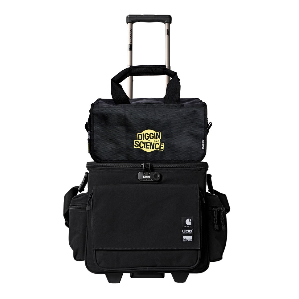 """Carhartt WIP x UDG x HHV x magma - Sling Bag Trolley »For The Record« & 45 Record-Bag (150) """"Diggin Is A Science"""" Edition (HHV Bundle)"""